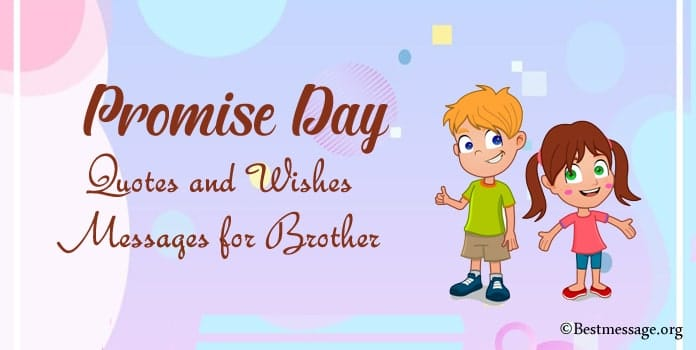 Promise Day Quotes and Wishes Messages for Brother