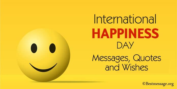 World Happiness Day quotes, Messages Image, happiness captions
