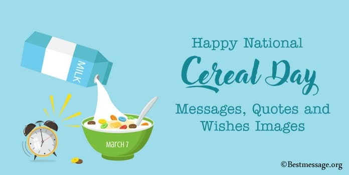 Happy Cereal Day Messages, Cereal Quotes Sayings Image