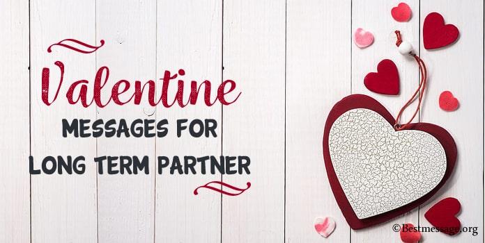 Valentine Messages for Long Term Partner