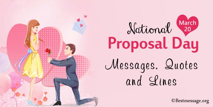 National Proposal Day Messages, Propose Quotes, Propose day Wishes