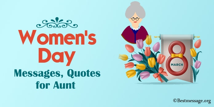 Women's Day Messages for Aunt