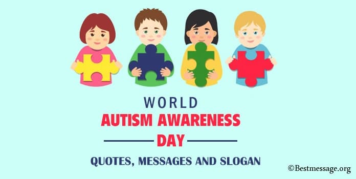 Autism Awareness Day Quotes, Messages, powerful Slogan Image