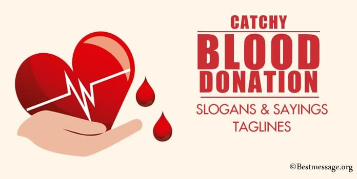 Blood Donation Slogans, Blood Donation Sayings Taglines
