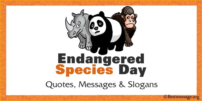 Endangered Species Day Quotes, Messages, Animals Slogans