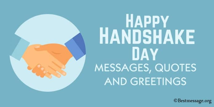 Happy Handshake Day Messages, Handshake Quotes Image