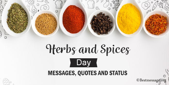 Herbs and Spices Day Messages, Spices Quotes Image