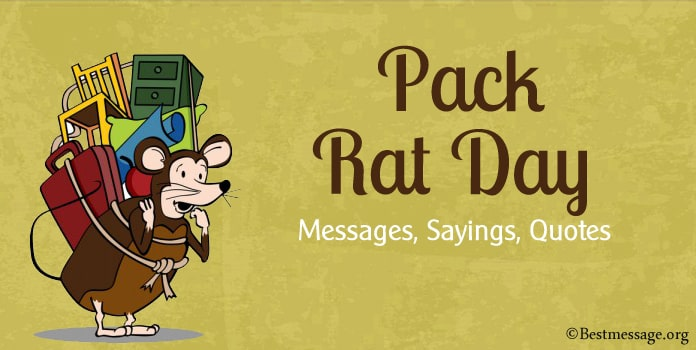 Pack Rat Day Messages, Pack Rat Sayings, Quotes Image