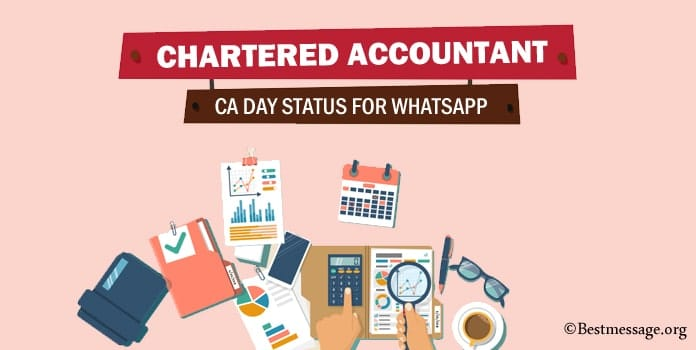 CA Day Whatsapp Status, Chartered Accountant Messages