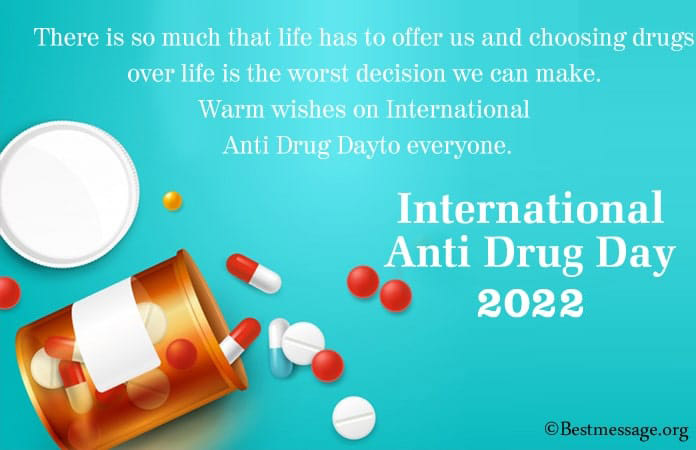 World Drug Day message, Stop drug abuse quotes