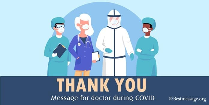 Thank You Message for Doctor during COVID