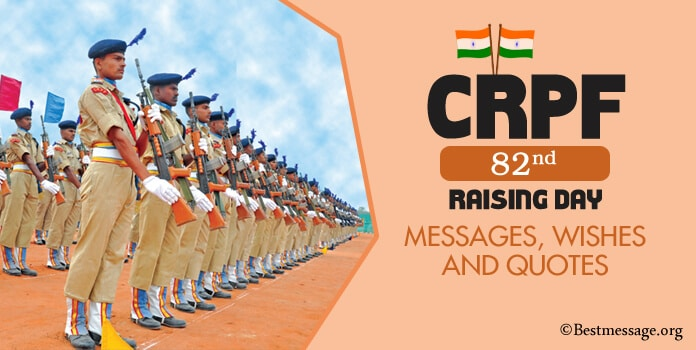 CRPF 82 Raising Day Wishes, 82nd CRPF Quotes, Messages
