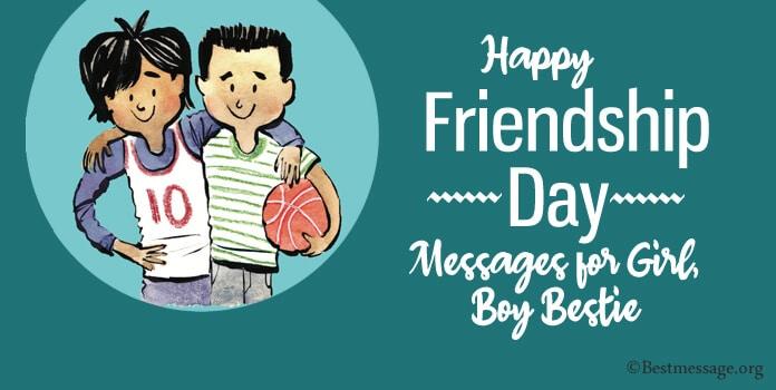 Best Friendship Day Wishes Messages for Girl, Boy Bestie