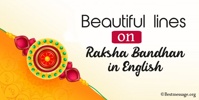 Beautiful lines on Raksha Bandhan in English