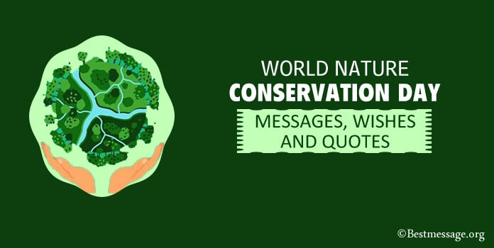 World Nature Conservation Day Quotes Messages, Environment slogans