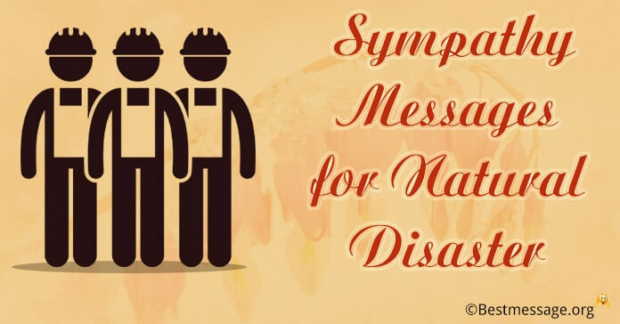 Sympathy Messages for Natural Disaster