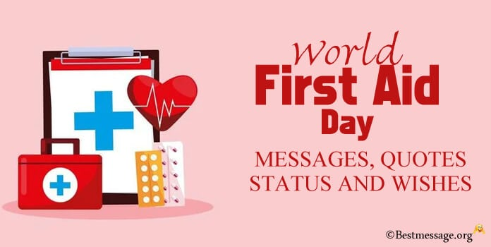 World First Aid Day Messages, Quotes Status Wishes Images