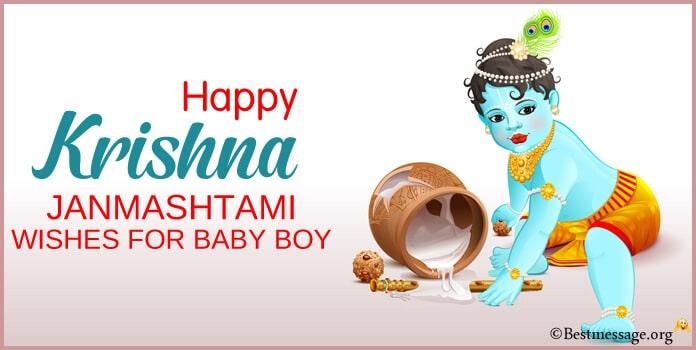happy Janmashtami Wishes for Baby Boy
