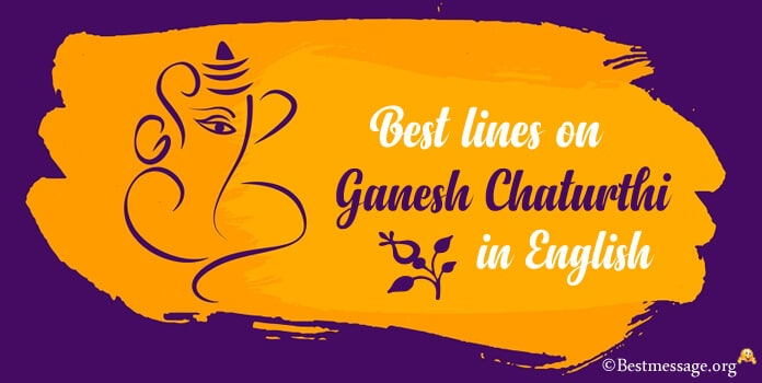 Best lines on Ganesh Chaturthi in English