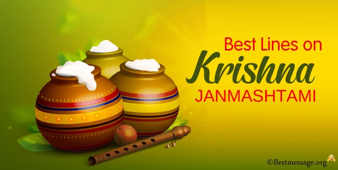 best Lines on Krishna Janmashtami for Children and Students