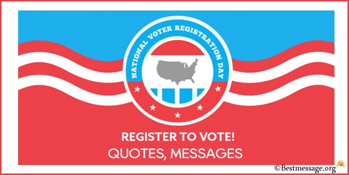 National Voter Registration Day Messages, Quotes Image