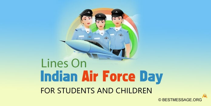 Lines on Indian Air Force Day for Students and Children
