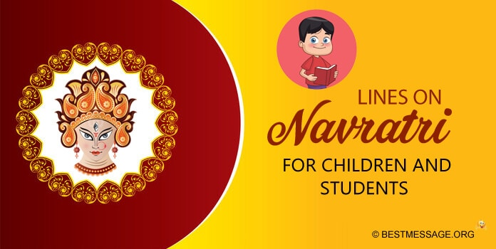 Lines on Navratri for Students and Children