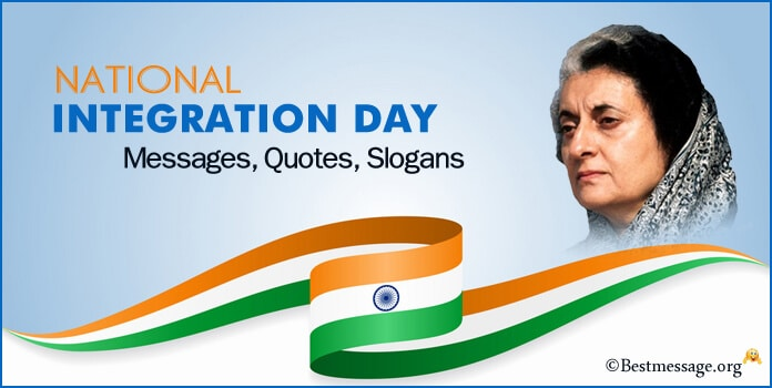 National Integration Day Quotes Messages, Slogans