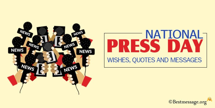 National Press Day Wishes Quotes Messages Image