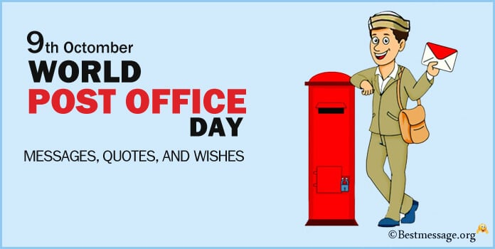 World Post Office Day Messages, Wishes Images